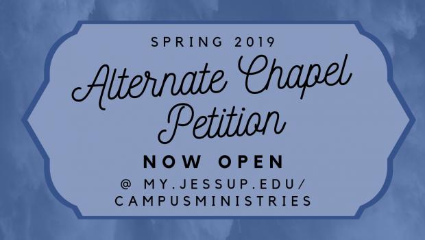 Alternate Chapel Petition NOW OPEN