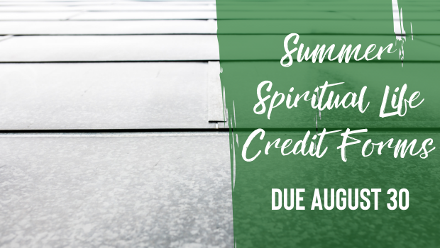 Summer SLC Forms Due August 30