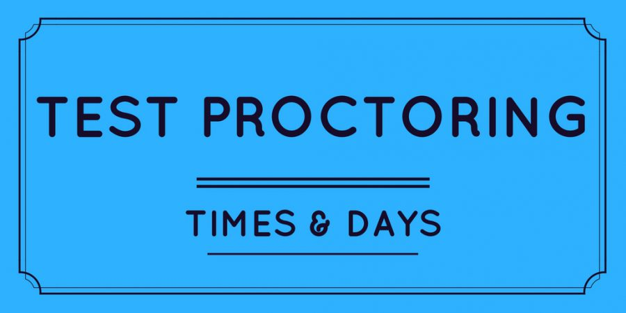 Test Proctoring Times