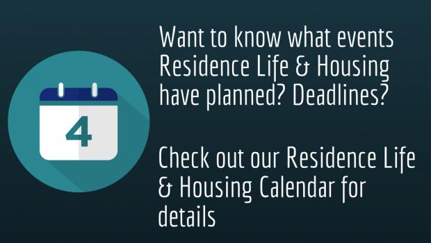 Residence Life & Housing Calendar