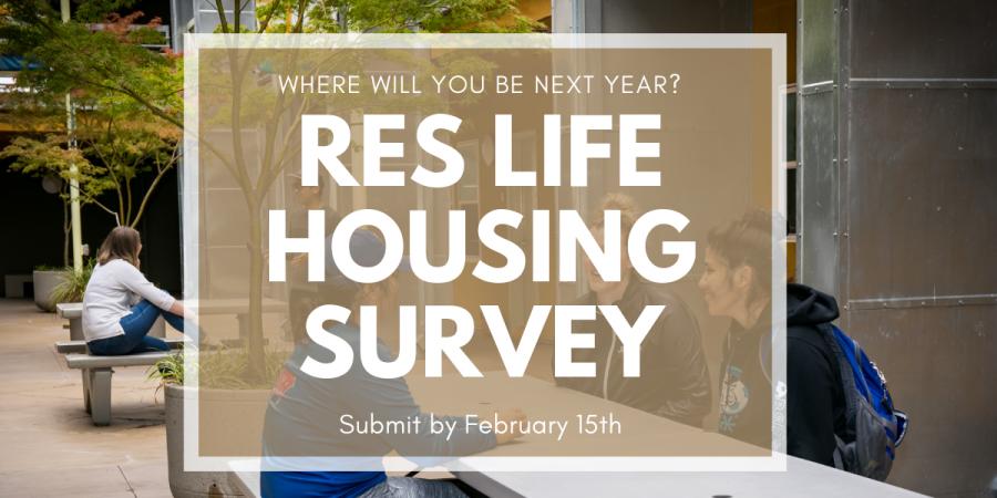 Housing & Enrollment Plans for Next Year