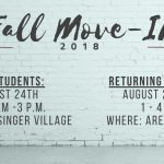 Student Move-In Dates