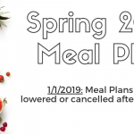 Spring 2019 Meal Plans