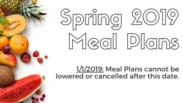 Spring 2019 Meal Plans