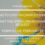 Spring Break Housing