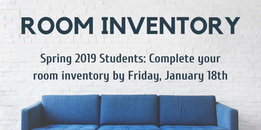 2019 New Student Room Inventory