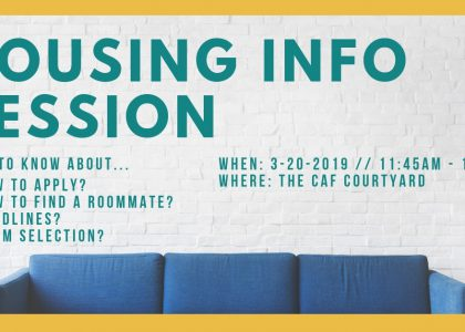 Housing Information Session