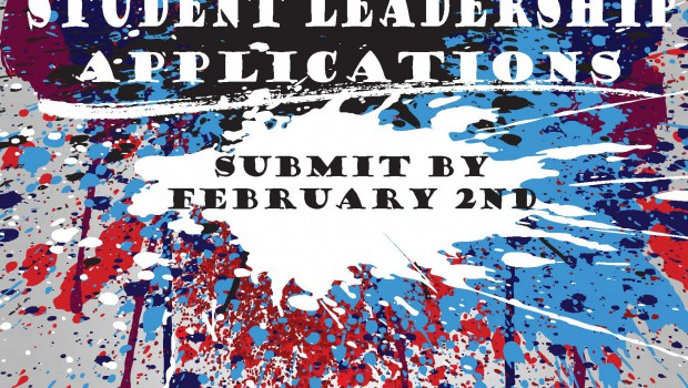 Student Leadership Applications Due February 2