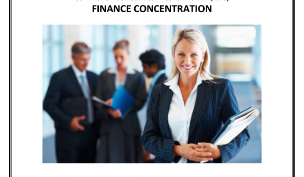 Finance Concentration Starting Fall 2015