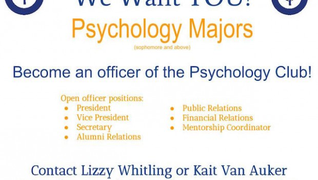 Jessup Psych Club Officer Openings