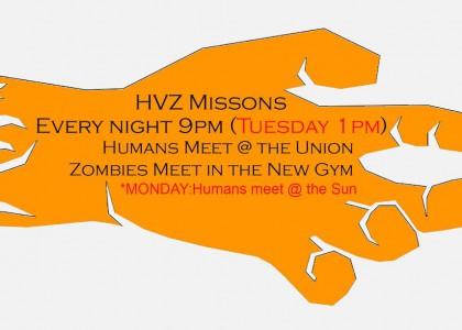 HVZ MISSION TIMES