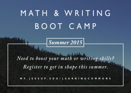 Math & Writing Bootcamp!