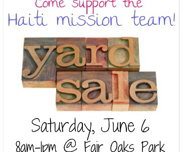 Haiti Team Yard Sale!!!!