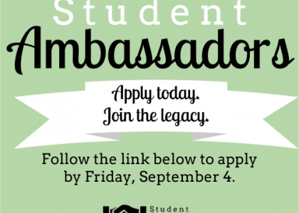 Only a few more days… Apply to be a Student Ambassador!