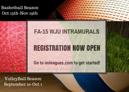 Registration for FA-15 Intramurals Now Open!