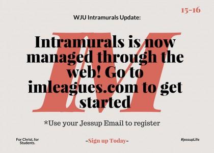 Important Intramurals Information!!!