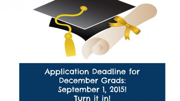 Upcoming December Grad Application Deadline