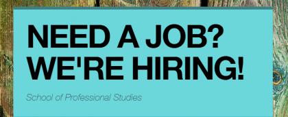Need a job? WE'RE HIRING!