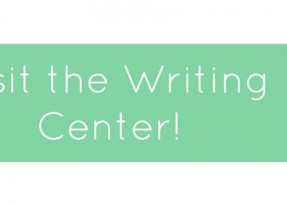 Book an Appointment with a Writing Tutor!