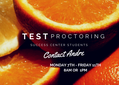 FA-15 Finals Proctoring for Success Center Students Only