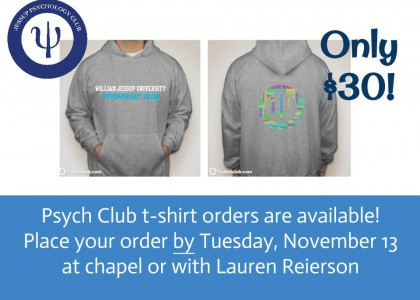 Psych Club Sweatshirts!