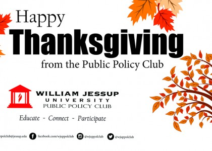 Happy Thanksgiving from the Public Policy Club!