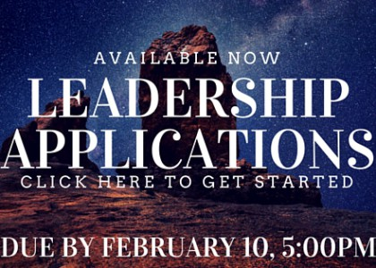 Student Leadership Applications Now Available