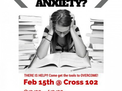 Come to the Math Test Anxiety Workshop!