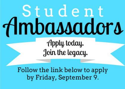 Apply to be a 2016-2017 Student Ambassador