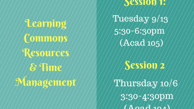 Learning Commons Resources & Time Management
