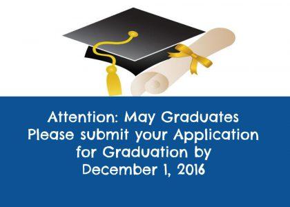 Apply to Graduate!