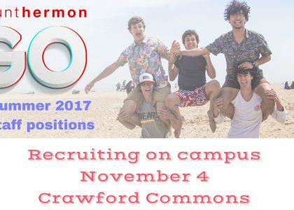 Mt. Hermon on campus recruitment – Nov. 4
