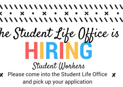 Student Life Hiring!