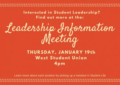 Student Leadership Information Meeting