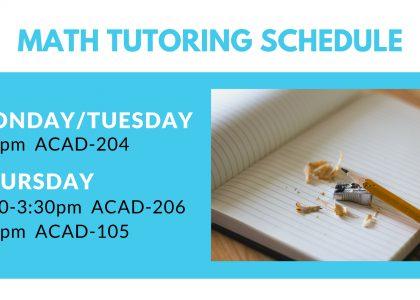 Math Tutoring Schedule