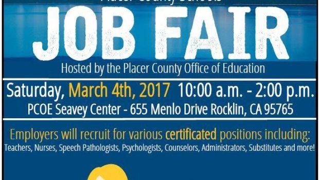 Placer County Schools Job Fair – March 4