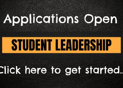 Student Leadership Application NOW OPEN!