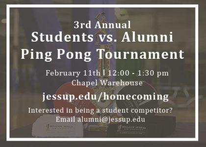 3rd Annual Students vs. Alumni Ping Pong Tournament