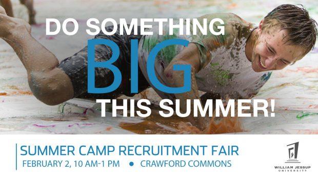Summer Camp Recruitment Fair – Feb. 2 10am-1pm
