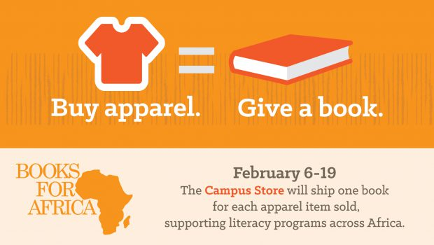Join the Jessup Campus Store —> BOOKS FOR AFRICA!