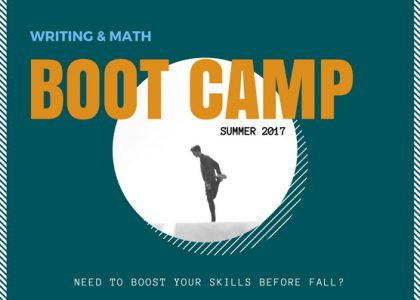 Register Now for Writing & Math Boot Camp!
