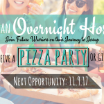 Welcome Future Warriors – Become an Overnight Host 11.9.17!