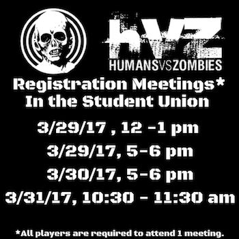 Mandatory HvZ Registration Meetings