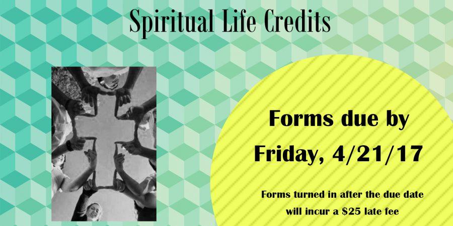 Spiritual Life Credits Due