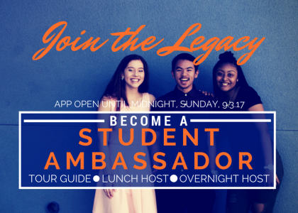 APPLY NOW to Join the Student Ambassador Program!