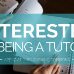 Looking to hire tutors! Apply now.