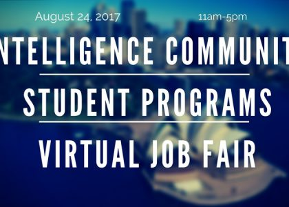 Find out about jobs in the Intelligence Field