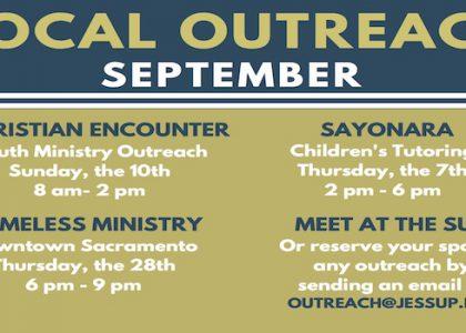 September's Local Outreaches