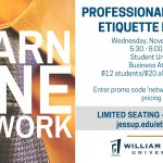 Professional & Dining Etiquette Dinner – Nov. 1 (RSVP by 10/22)