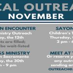 November's Local Outreach Events